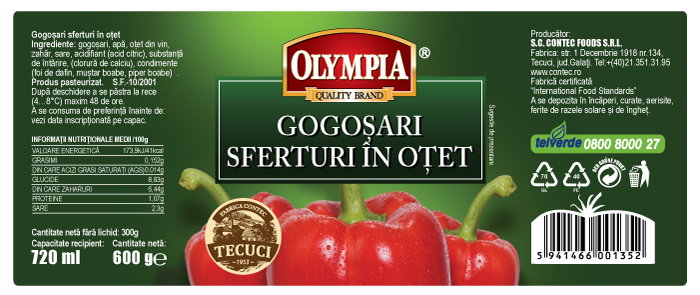 Gogosari Sferturi Label Design for Olympia Brand