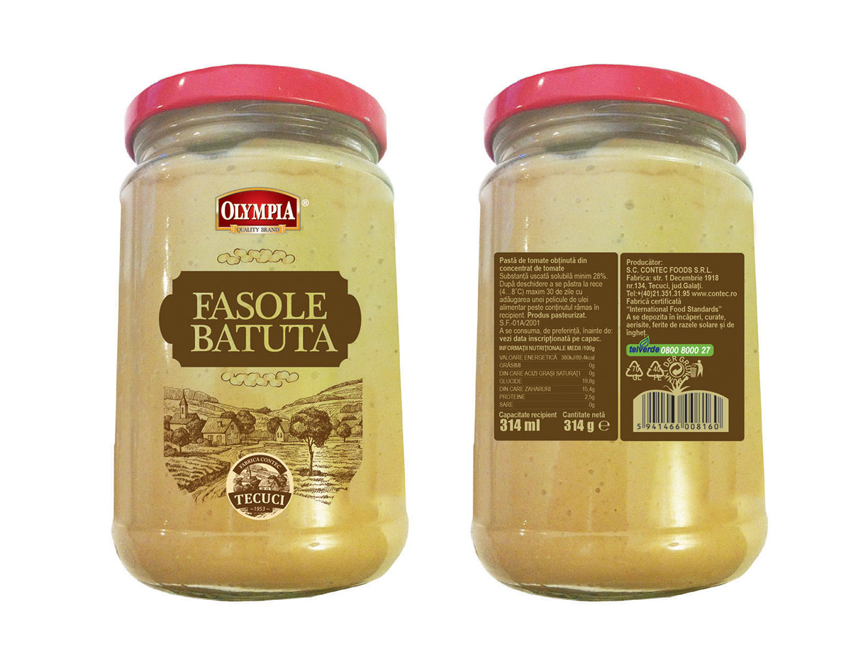 Label Design for Mashed Beens