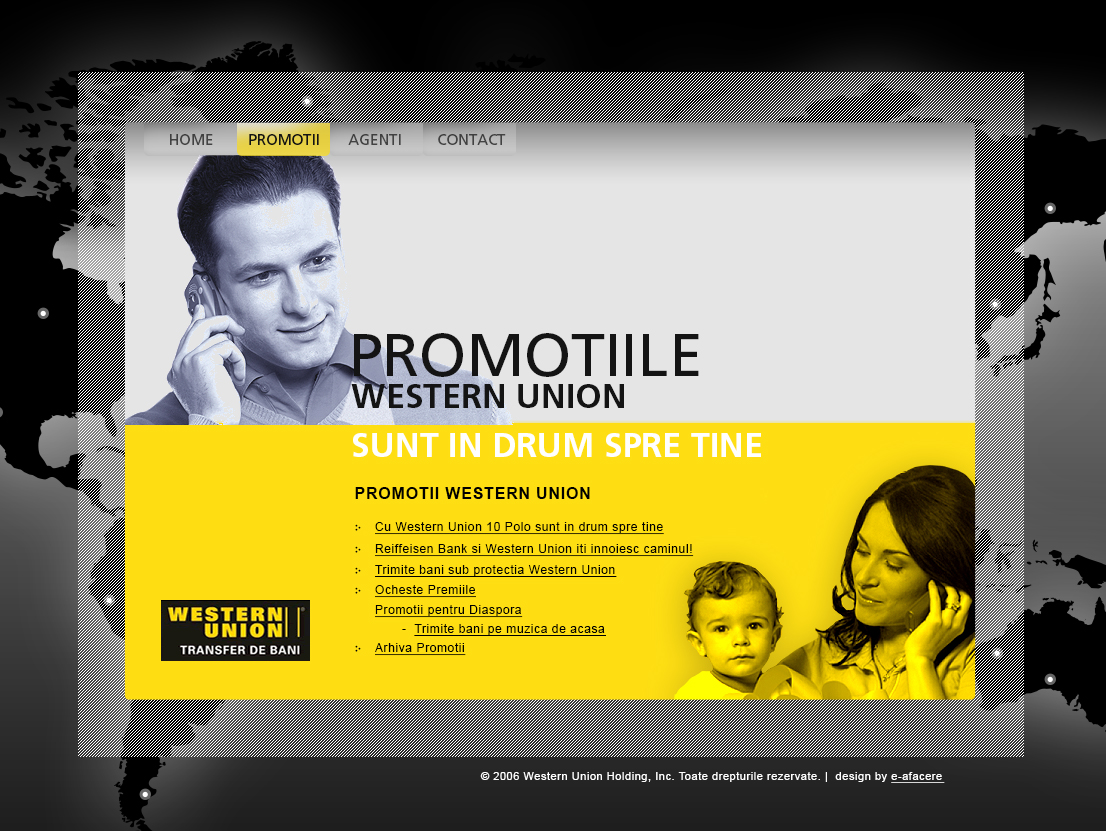 WESTERN UNION Promotions website