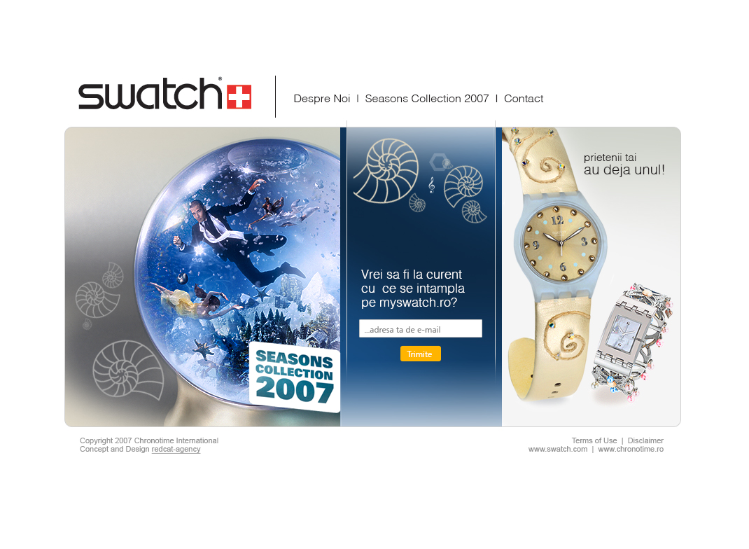 SWATCH  seasons collection website