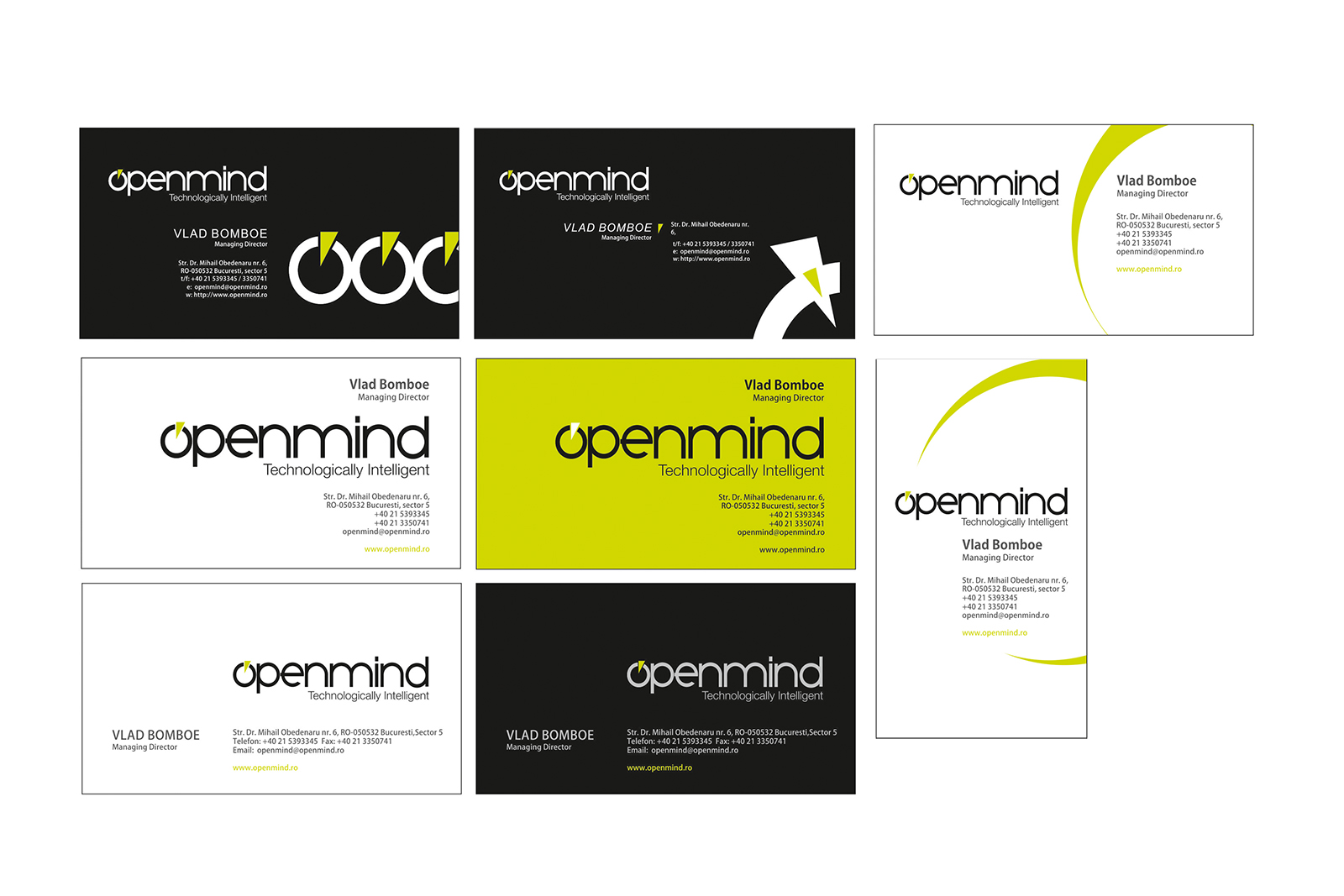 Openmind bisiness card design