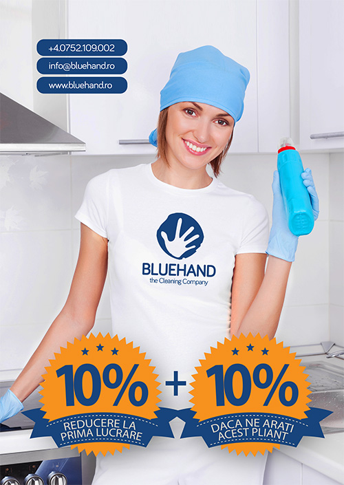 BLUAHAND promotional flyer